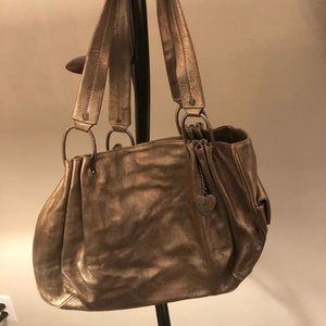 Gold Leather Juicy Couture Handbag